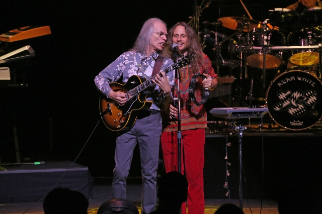 Yes Show: Steve Howe and Jon Davison out front for the 2016 carnation of Yes, with longest-serving member Alan White keeping time (Photo: Glenn Gottlieb)