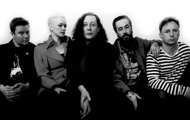 Five Live: The Wonder Stuff, 2016 style. From the left - Dan Donnelly, Erica Nockalls, Miles Hunt, Mark McCarthy, Tony Arthy