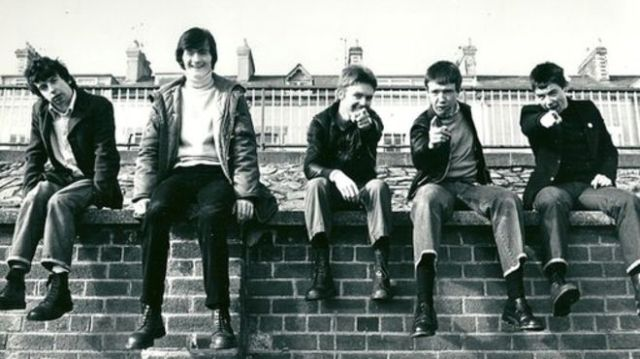 Derry Roots: The Undertones, back in the day. From the left - John O'Neill, Feargal Sharkey, Billy Doherty, Mickey Bradley, Damian O'Neill (Photo: Paddy Simms)