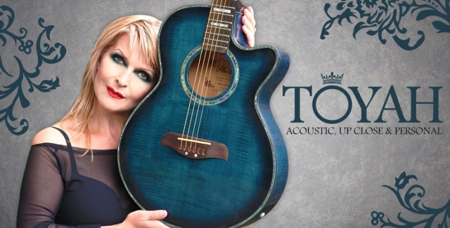 Acoustic Warrior: Toyah, out and about with her Acoustic, Up Close and Personal shows (Photo: Dean Stockings for http://toyahwillcox.com/)