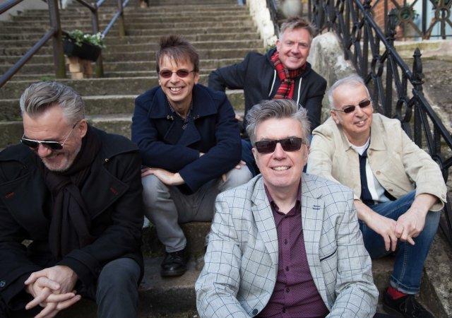 Five Alive: The Undertones today, namely (from the left) Paul McLoone, Damian O'Neill, Mickey Bradley (in front), Billy Doherty, and John O'Neill.