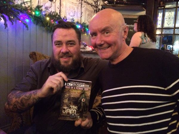 Double Act: Dean Cavanagh and Irvine Welsh give their endorsement to Matteo's debut novel