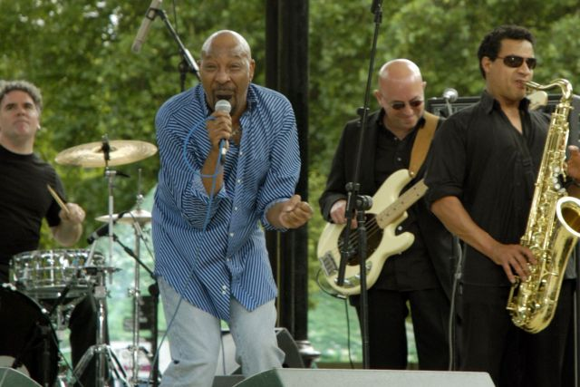 Road Runners: Geno Washington and the Ram Jam Band, par-taying in 2016 (Photo courtesy of Steve Bingham)