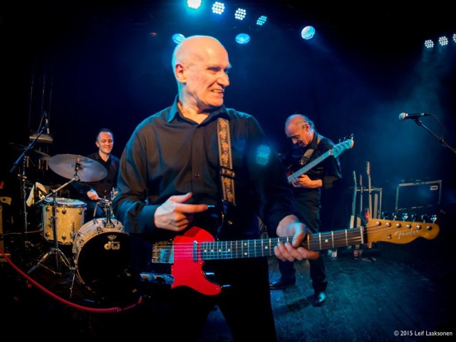 Live Wires: Dylan, Wilko and Norman give it some (Photo copyright: Leif Laaksonen)