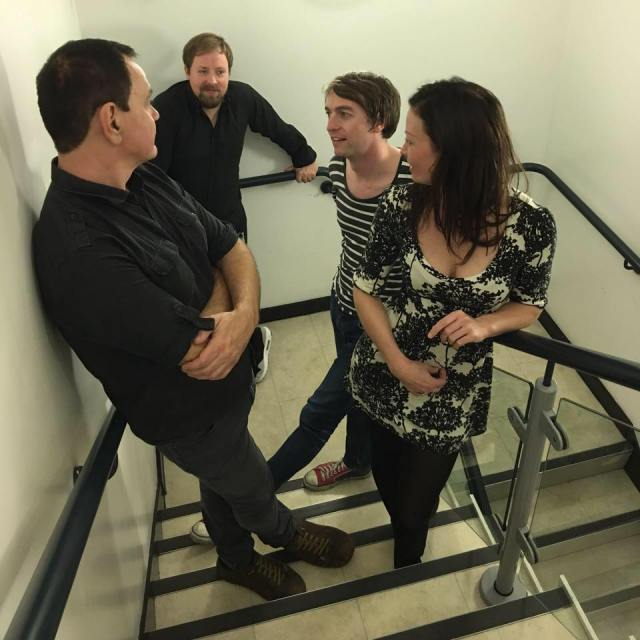 Stair Out: The Wedding Present, 2016, featuring (from left) David Gedge, Samuel Beer-Pearce, Charles Layton and Katharine Wallinger (Photo: The Wedding Present).