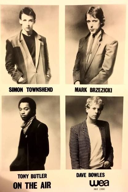 Air Time: A promo shot of On The Air as a four-piece (Photo sourced from Mark Brzezicki's Facebook page)