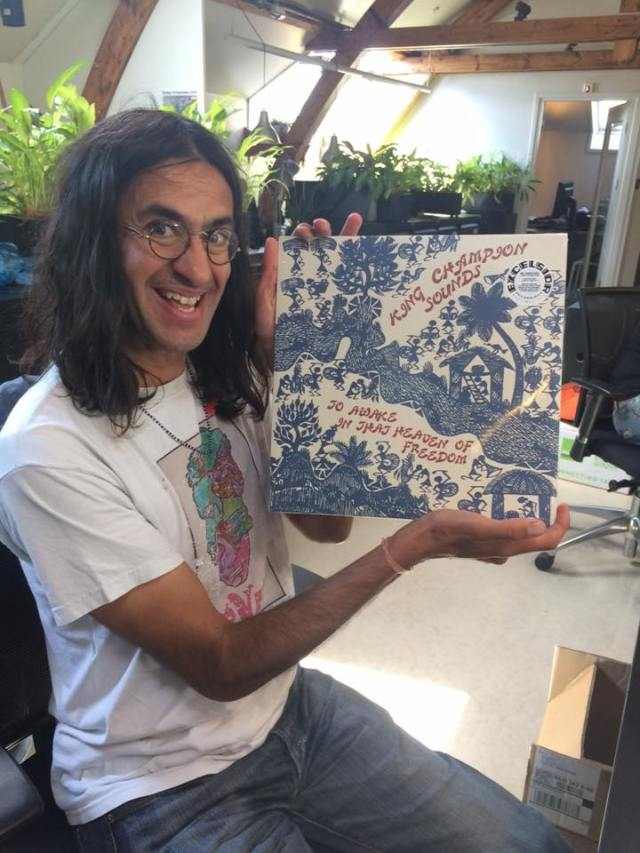 Vinyl Viewing: Ajay Saggar with the brand new King Champion Sounds album.