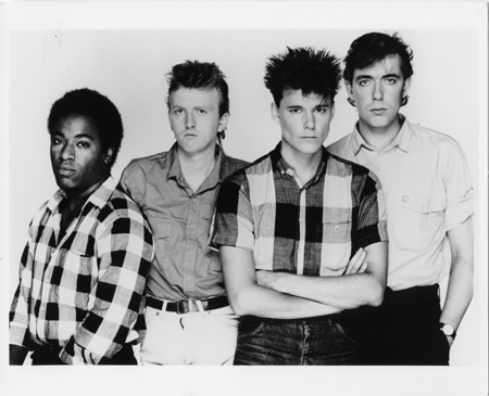 The Originals: Big Country in 1983. From the left - Tony Butler, Bruce Watson, Stuart Adamson, Mark Brzezicki (Photo copyright: Mercury/Virgin EMI Records)