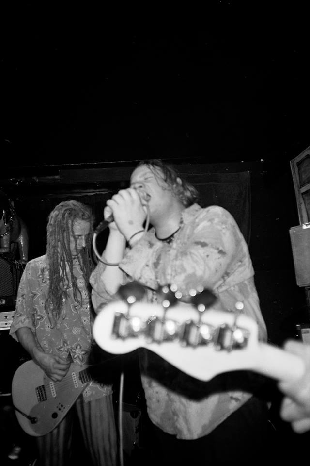 Speed Trials: Dandelion Adventure's Mark Standing, left, and Marcus 'Fat Mark' Parnell, live at the Lady Owen Arms, 1990 (Photo: Greg Neate)