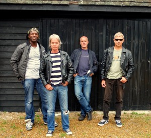Vapors Trial: The 2016 line-up of The Vapors, with Michael Bowes, left, joining Dave Fenton, front, Ed Bazalgette, rear, and Steve Smith, right (Photo: The Vapors).