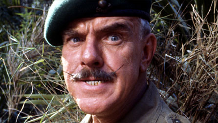 Shut Up: Windsor Davies as Sergeant Major Tudor Bryn 'Shut Up' Williams in It Ain't Half Hot, Mum (Photo: BBC)