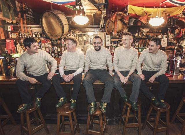 Bar Flies: Billy and his folk fusion bandmates take their places at Peadar O'Donnell's in Derry (Photo: The Billy Doherty Rambling Band)