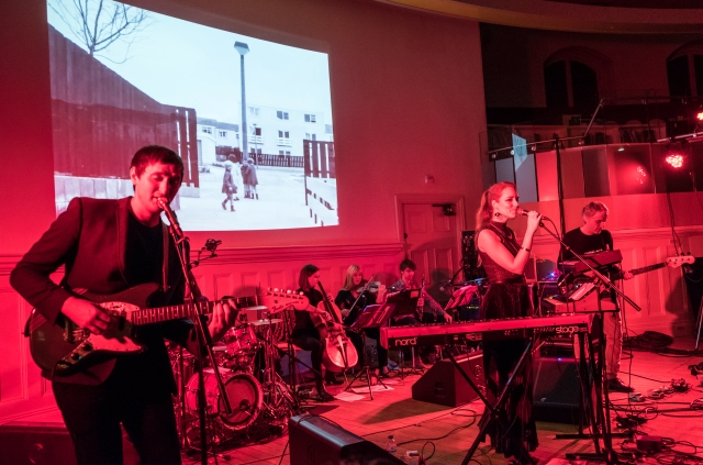 Magnetic Presence: The Magnetic North, live at Liverpool Central Library. From the left - Erland Cooper, Hannah Peel, Simon Tong (Photo copyright: McCoy Wynne)