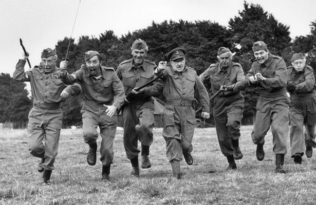 Taking Charge: The Dad's Army crew on the attack (Photo: BBC)