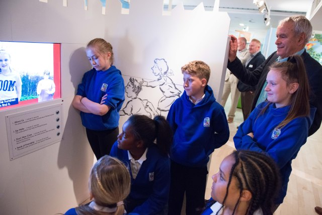 Drawn In: Michael Foreman meets his young fans at Seven Stories (Photo: Damien Wootten)