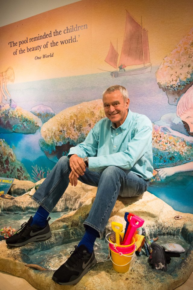 Beach Combing: Michael Foreman takes in his exhibition (Photo: Damien Wootten)