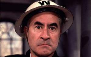 Warden Hodges: Bill Pertwee in his trademark role, wondering what Napoloeon's up to (Photo: BBC)