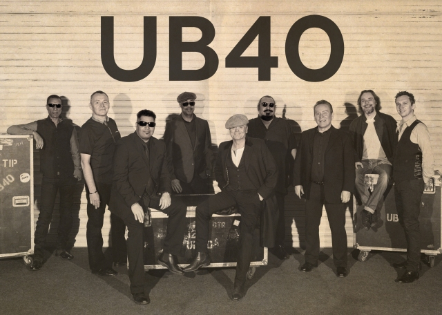 Nine Time: The current UB40 line-up, with Jimmy Brown second from the right