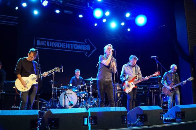 Derry's Finest: The Undertones, sound-checking at Manchester Academy earlier on the tour (Photo copyright: Kate Greaves)