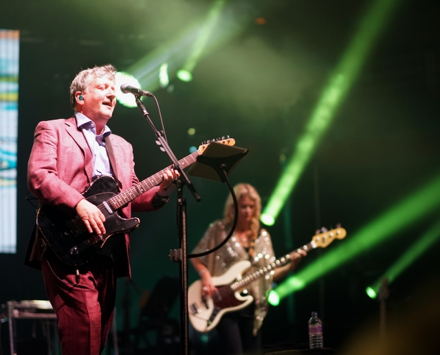 Stage Presence: Glenn Tilbrook and Lucy Shaw in live action (Photo: Graham Munn)
