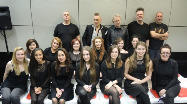 Choral Treat: The Membranes with the BIMM choir, set to be heard again together at Manchester's Ritz in April 2017 (Photo: BIMM)