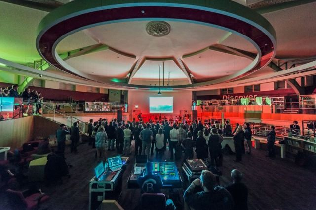 Taken Up: The Magnetic North, live in Liverpool's Central Library in October 2016 (Photo: http://www.getintothis.co.uk/