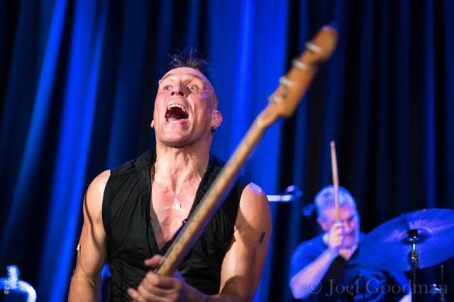 Space Invaders: John Robb and Rob Haynes give it their all at The Conti (Photo copyright: Joel Goodman)