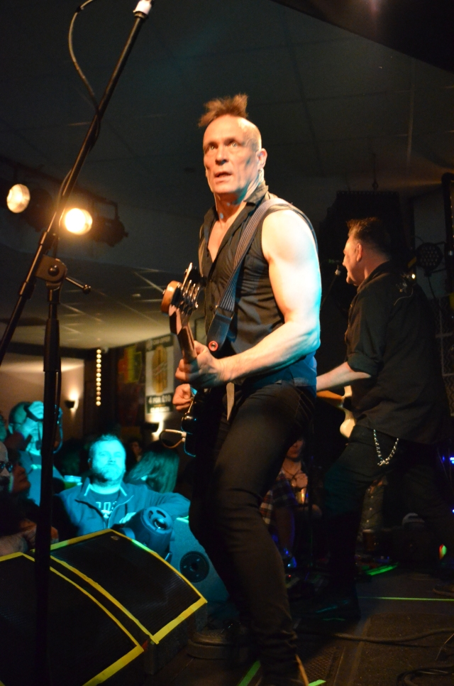 Mohawk Master: John Robb in live action with The Membranes (Photo: Phil Newall)