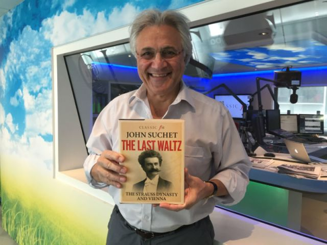 Lasting Legacy: John Suchet proudly displays his published work on the Strauss dynasty, The Last Waltz (Photo: Classic FM)