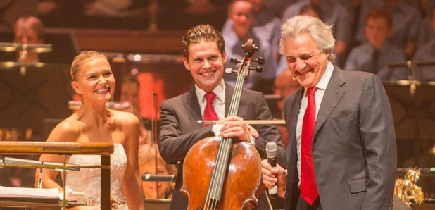 Liverpool Visit: John Suchet shares a joke with the Royal Liverpool Philharmonic Orchestra (Photo: Classic FM)