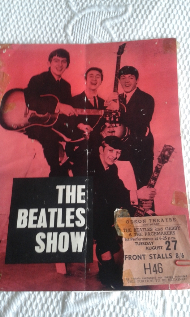 Odeon Memories: A ticket belonging to Therese Howard, who was 13 when she saw The Beatles in August 1963 at the Southport Odeon (Photo: Therese Howard)