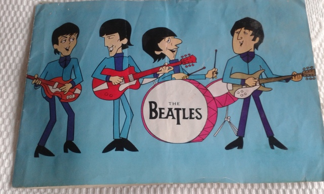 Cartoon Quartet: Beatles memorabilia from Deena Hubbard, who saw the band at the Hammersmith Odeon at Christmas 1964 (Photo: Therese Howard)