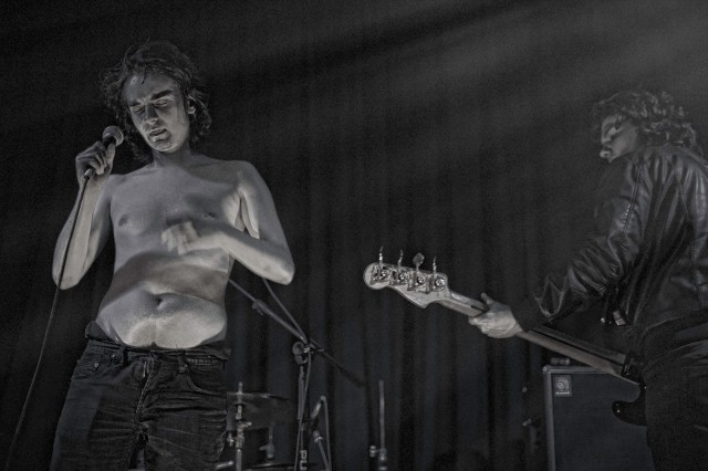 Stripped down: Vukovar's Dan feeling the heat at The Continental in Preston (Photo copyright: John Middleham)