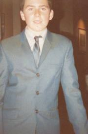 Sharp Suited: A young Den Davis, out on the town