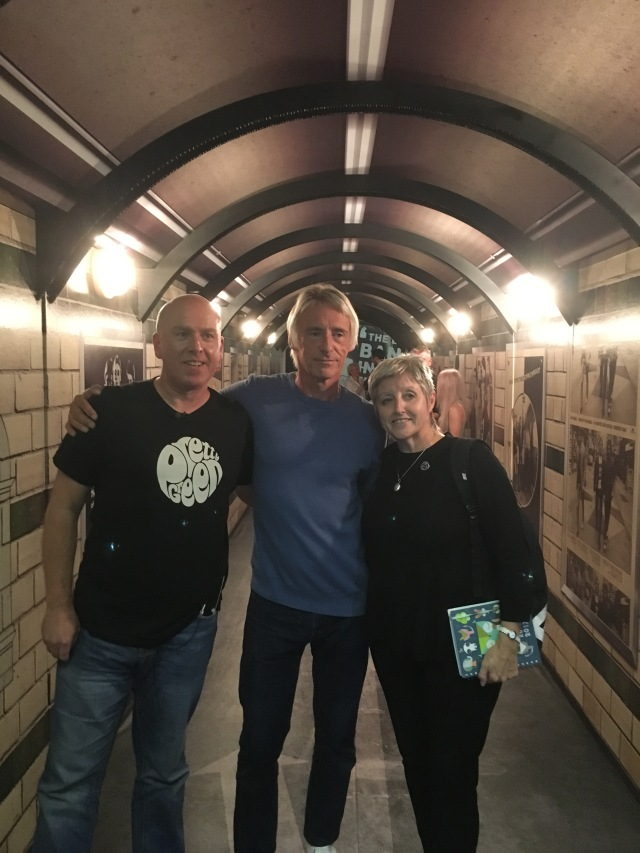 Tunnel Vision: Den Davis with Paul and Nicky Weller at the About the Young Idea exhibition in Liverpool last summer (Photo copyright: Den Davis).
