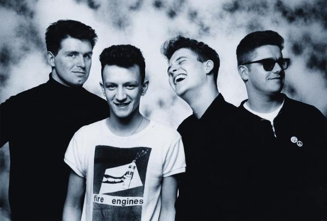 Four Play: The Chesterfields in 1986. From the left - Simon, Davey, Dom, Brendan (Photo: The Chesterfields)