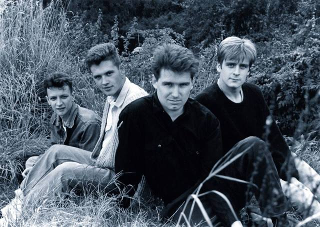 On Location: The Chesterfields in 1988. From the left - Davey, Dom, Simon, Mark, Bradford Abbas (Photo: The Chesterfields)