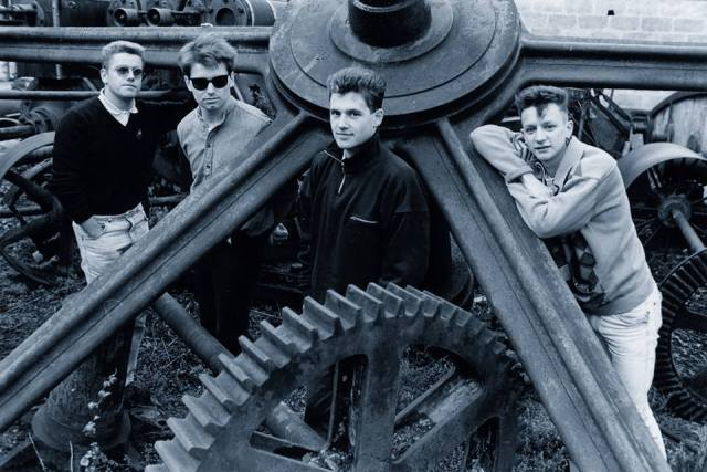 Industrial Past: Brendan, Simon, Dom, Davey - Gas House Hill, Sherborne, 1986 (Photo: The Chesterfields)