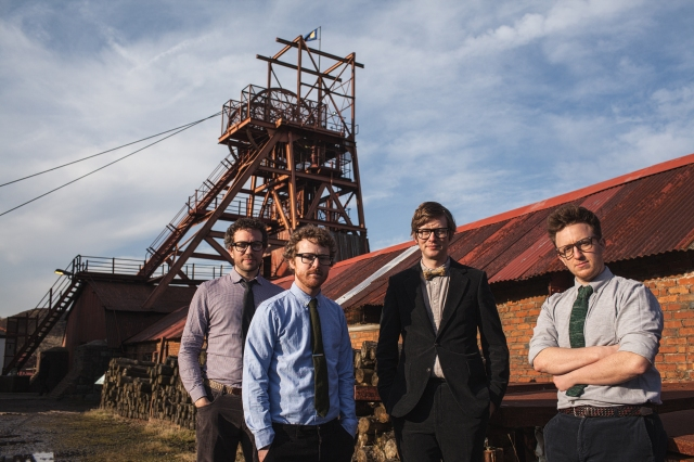 Valley Visitors: Public Service Broadcasting, including engineering accomplice James Campbell, left, on location in South Wales (Photo: Dan Kendall)