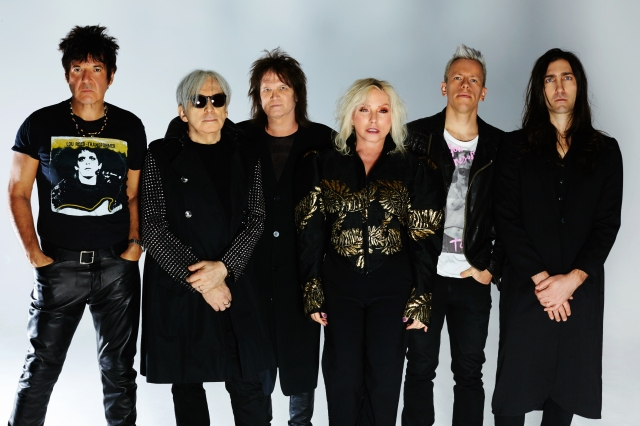Lining Up: Blondie 2017. From the left - Clem Burke, Chris Stein, Leigh Foxx, Debbie Harry, Tommy Kessler, Matt Katz-Bowen. Set for a full UK tour this autumn.