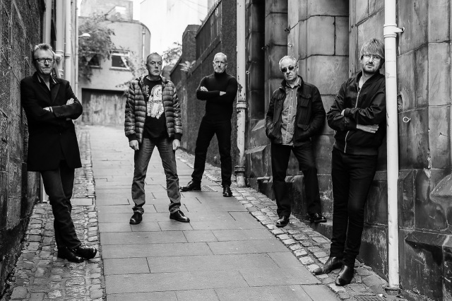 Burning Citizens: The Skids, back out there, and living the dream. From left - Bruce Watson, Mike Baillie, Richard Jobson, Bill Simpson, Jamie Watson (Photo: Gordon Smith)