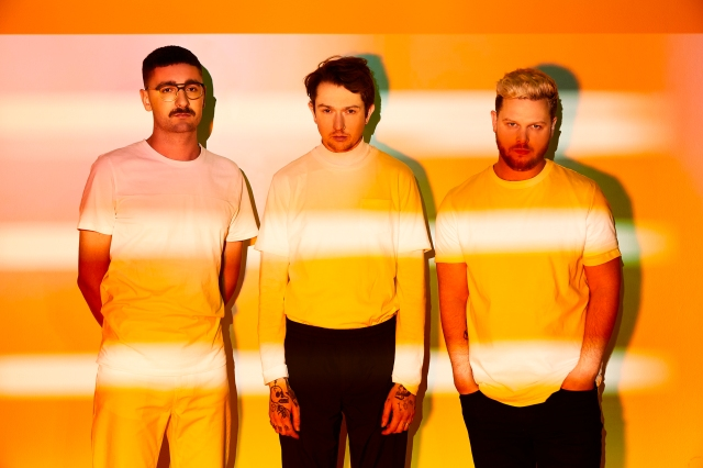 Orange Crush: Alt-J (namely from the left - Gus Unger-Hamilton, Thom Green, Joe Newman) are taking Relaxer out on the road