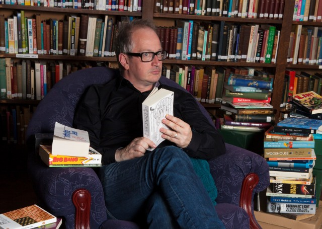 Busy Schedule: Robin Ince catches up on his reading, ahead of his latest live dates.