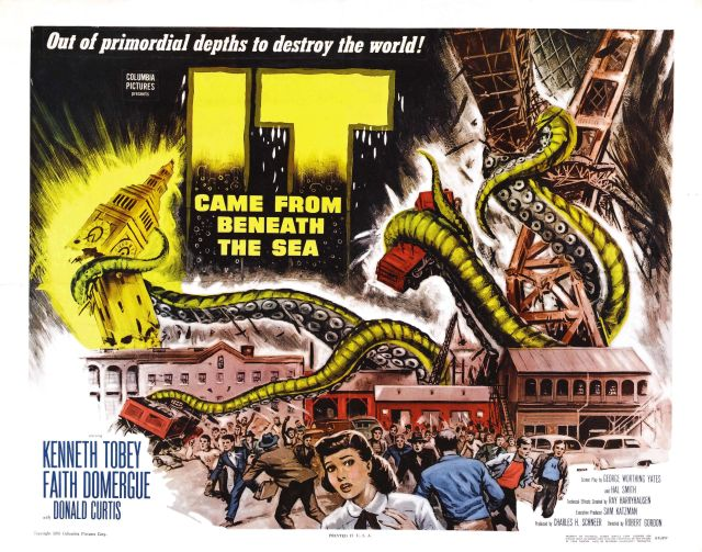 Monster Calls: The 1955 movie It Came From Beneath the Sea was another with technical effects by Ray Harryhausen