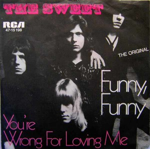 Early Days: The first Sweet single Andy played on, from 1971