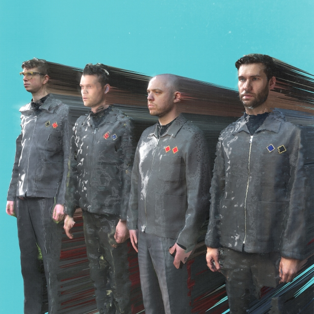Uniform Re-Animation: Everything Everything, 2020 style. From the left - Alex Robertshaw, Jeremy Pritchard, Jonathan Higgs, Mike Spearman.