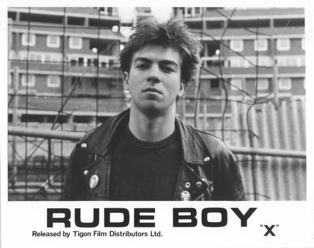 Screen Icon: Ray Gange, back in the day, publicising 1980's part-fictionalised rock documentary, Rude Boy. Photo copyright: Buzzy Enterprises Ltd.